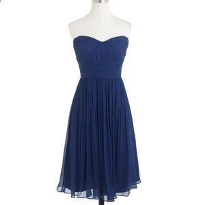 J. Crew Marbella Strapless Chiffon Dress